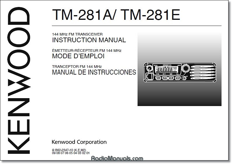 Kenwood TM-281A/E Instruction Manual