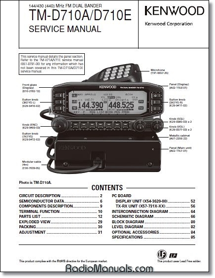 Kenwood TM-D710A/E Service Manual