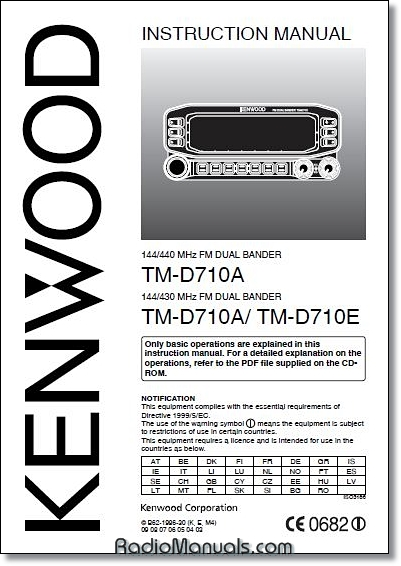 Kenwood TM-D710A/E Instruction Manual