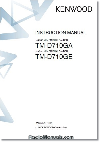 Kenwood TM-D710GA/E Instruction Manual