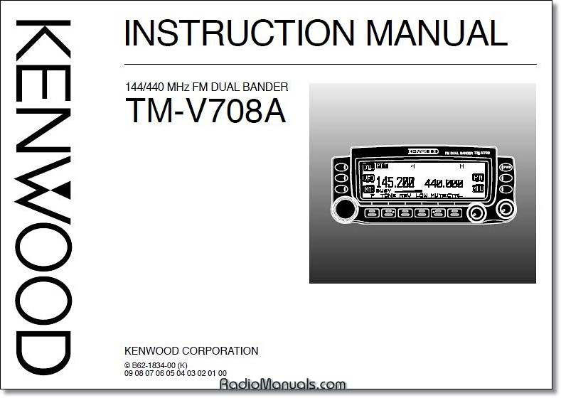 Kenwood TM-V708A Instruction Manual