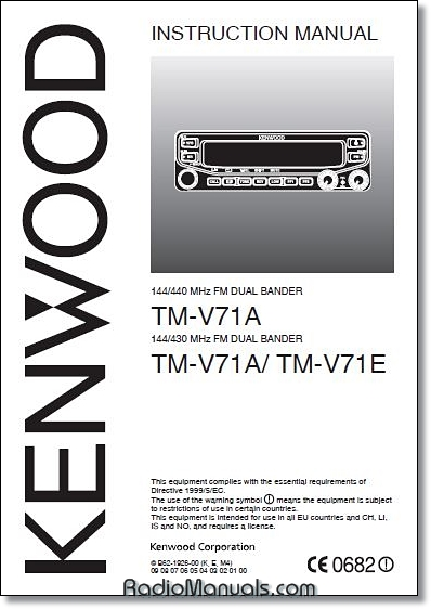 Kenwood TM-V71A/E Instruction Manual