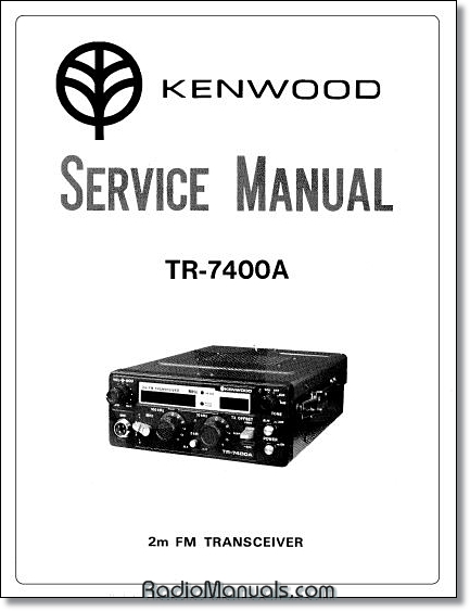 Kenwood TR-7400A Service Manual