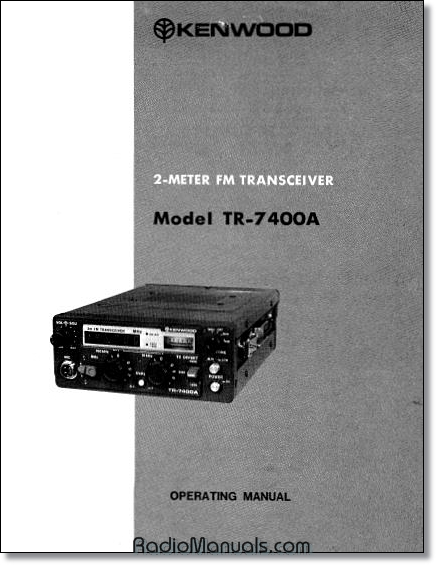 Kenwood TR-7400A Instruction Manual