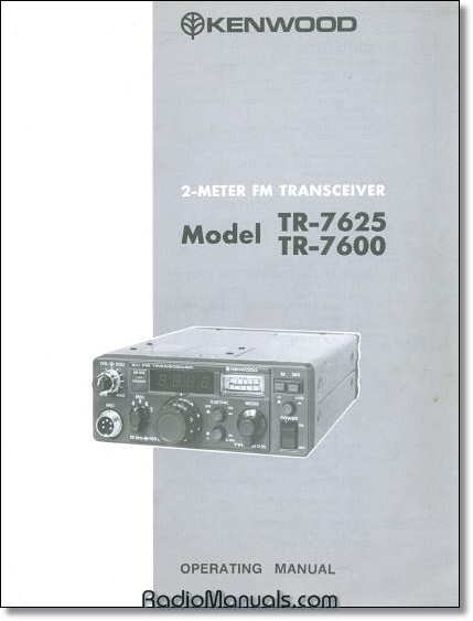 Kenwood TR-7600/7625 Instruction Manual