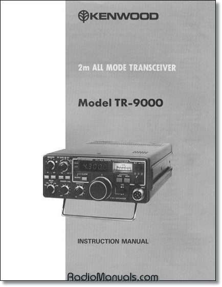 Kenwood TR-9000 Instruction Manual