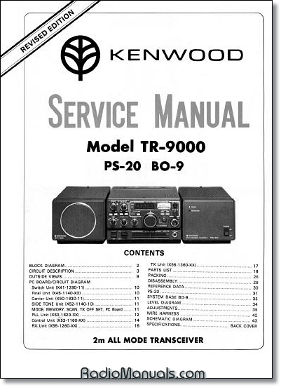 Kenwood TR-9000 Service Manual