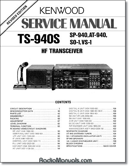 Kenwood TS-940S Service Manual