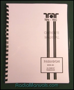 TenTec 585 Paragon Instruction Manual