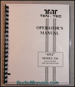 TenTec 6N2 Model 526 Instruction Manual