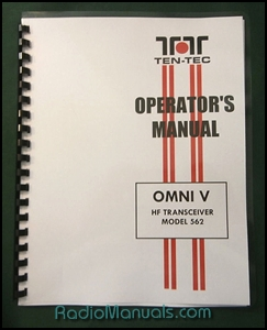 TenTec Omni V Model 562 Operator's Manual