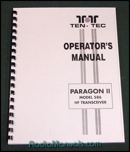 TenTec Paragon II Model 586 Operator's Manual