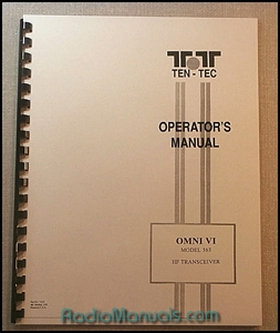 Tentec Omni VI Model 563 Operator's Manual