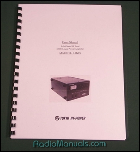 Tokyo Hy-Power HL-1.1KFX Instruction Manual