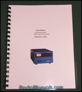 Tokyo Hy-Power HL-1.2KFX Instruction Manual