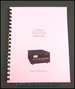 Tokyo Hy-Power HL-1.5KFX Instruction Manual