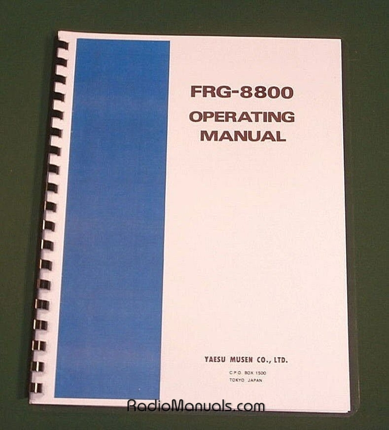 Yaesu FRG-8800 Instruction Manual
