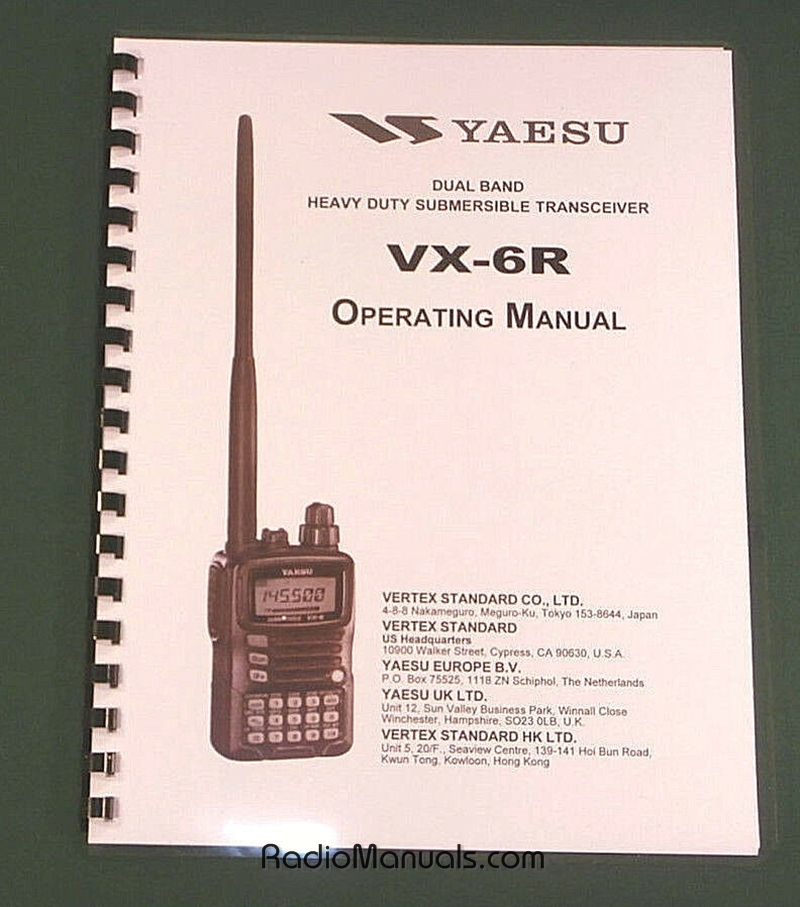Yaesu VX-6R Instruction Manual
