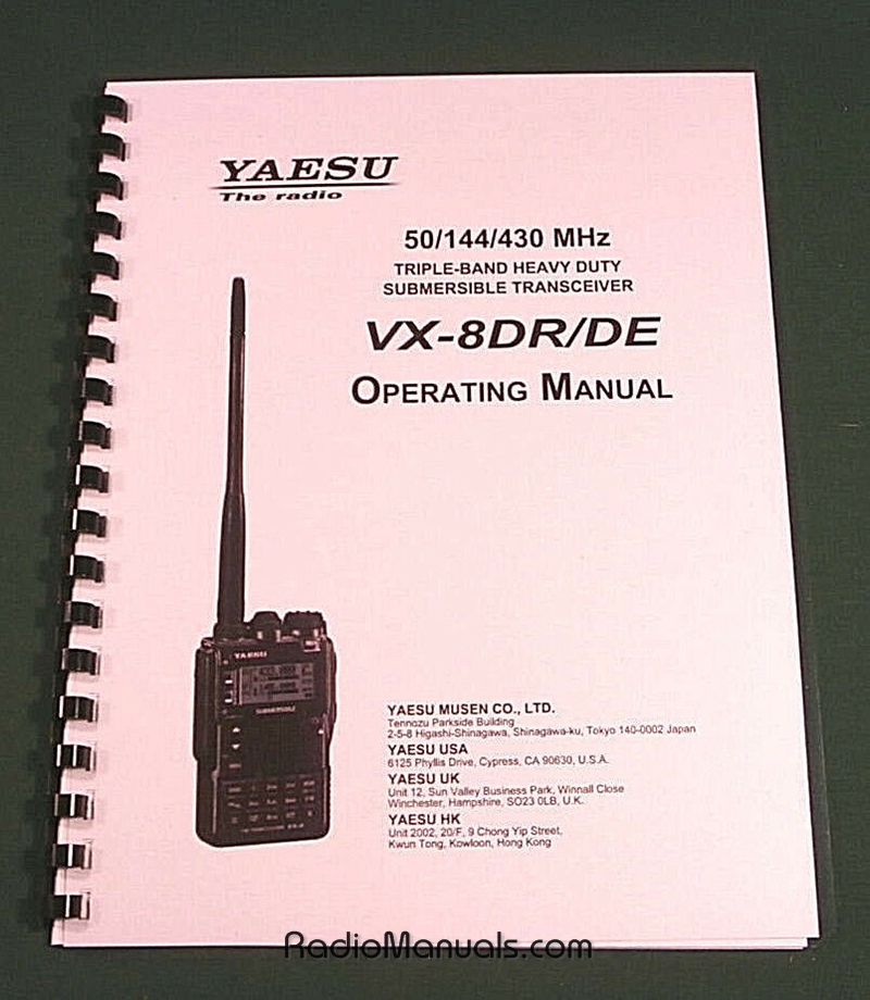Yaesu VX-8DR / DE Instruction Manual