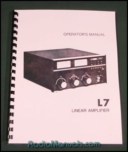 Drake L-7 Instruction Manual