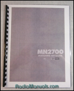 Drake MN-2700 Instruction Manual