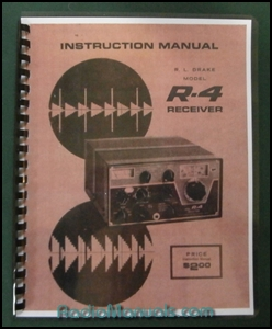 "Drake R-4 Instruction manual: 11"" x 17"" Foldout Schematic"