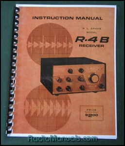 "Drake R-4B Instruction manual: 11"" x 17"" Foldout Schematic"
