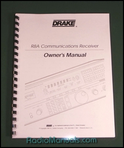 Drake R8A Instruction Manual