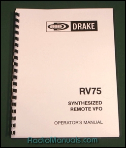 Drake RV-75 Operating Manual
