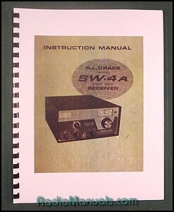 "Drake SW-4A Instruction Manual: 11"" X 17"" Foldout Schematic"