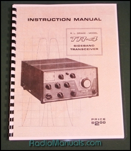 "Drake TR-4 Instruction Manual: 11 X 17"" Foldout schematic"