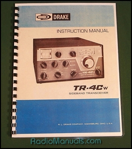 "Drake TR-4CW Instruction Manual: 11"" x 17"" Foldout Schematic"