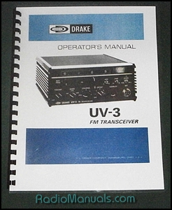 Drake UV-3 Instruction Manual