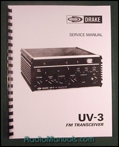 "Drake UV-3 Service Manual: 11"" X 17"" Foldout Schematics"