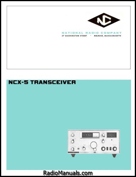 National NCX-5 Instruction Manual